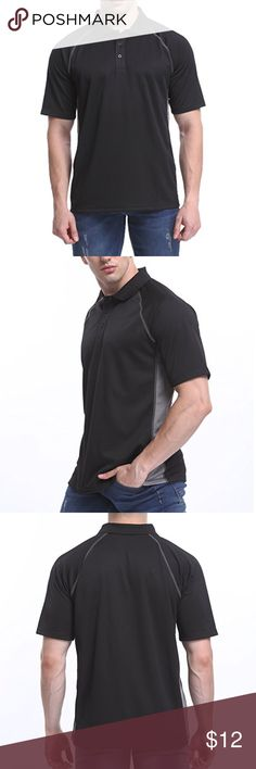 """Men's sport performance Big & Tall polo 2x 3x 4x Brand New Men's Sports Performance Coaching polo shirt. Short sleeve, Moisture Wicking. Black & Gray. Choose from sizes 2x- 52"""" chest, 3x- 54"""" chest, or 4x- 56"""" chest moheen Shirts Polos"""