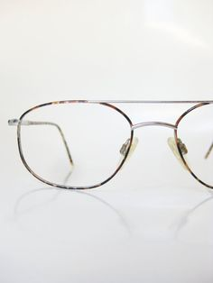 1980s Wire Rim Eyeglass Frames Mens Womens Unisex Tortoiseshell Simple Eyeglasses Optical Feather Light Vintage Retro Boxy Minimalist