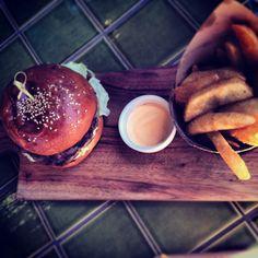 Loving rustic food served up on a wooden platter