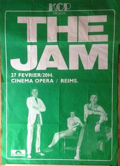 old jam poster Rock Posters, Band Posters, Concert Posters, Music Posters, The Style Council, Ad Libs, Punk Poster, New Flyer, Paul Weller