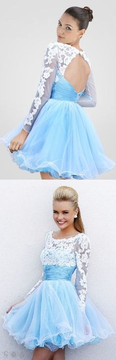 scoop neckline lace a-line/princess tulle keyhole back a-line homecoming dress