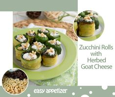 Zucchini Rolls with Herbed Goat Cheese