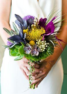 Modern, bright bridal bouquet // Photo: Cory Ryan Photography // Event Planner: Sarah K. Wolf // TheKnot.com