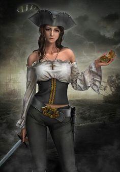 Mujer pirata bondadosa