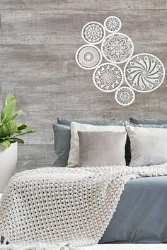 Crochet Wall Art, Yarn Wall Art, Yarn Wall Hanging, Tapestry Wall Hanging, Boho Bedroom Decor, Farmhouse Bedroom Decor, Country House Interior, Farmhouse Interior, Large Dream Catcher