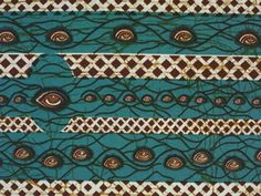 """Wax printed cloth """"Weni behu naaso w'ano enntumin nnka"""" (Your eyes can see, but your mouth cannot say). Printed in Ghana, 2006."""