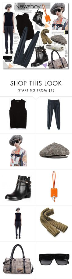 """Newsboy"" by watereverysunday ❤ liked on Polyvore featuring Arco, Zara, Acne Studios, Marni, casualluxe and bhalo"