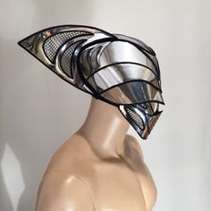 This listing is for the headpiece only ,consisting out of an interior muzzle mask ,and the helmet. Used for futuristic cylon sci fi purposes steampunk fetish cyber headdress cybergoth or halloween gladiator warrior helmet.Visor is totally useful. The latest in Divamp couture design More pics up shortly ! Very light weighted and paded on inside , helmet and muzzle can be worn separately as well. Chest piece and dreads are not included and listed separately If you have any suggestion or ch... Space Fashion, Fashion Wear, Gothic Fashion, Cosplay, Future Clothes, Bride Book, Body Adornment, Masks Art, Fantasy Costumes