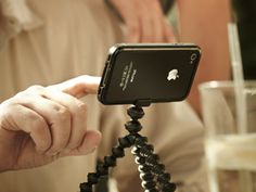 This tripod great for self portrait timer pics, time lapse videos, etc for your iPhone. The legs wrap around nearly anything to hold on steady. Flexibility is great.