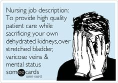 Nursing job description.... Damn close. Add getting swing at and berated for not giving enough pain meds!