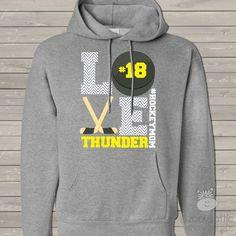 hockey hooded sweatshirt, custom love hockey mom hoodie