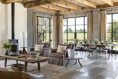 Refined Earthy Escape: Serene Stone and Glass Vacation Home in California
