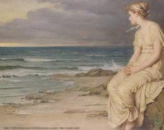 Miranda, Oil by John William Waterhouse (1849-1917, Italy)