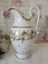 Large antique French old paris porcelain pouring jug, pitcher. c1840