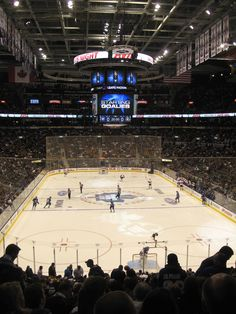 One of my favorite childhood memories is going to the leafs games. My dad my brother and I would go two times a season and when they won it was so exciting. Boston In The Fall, Living In Boston, Leafs Game, Concert Venues, Air Canada Centre, Toronto Travel, Sports Stadium, Hockey Games, Vancouver Canucks