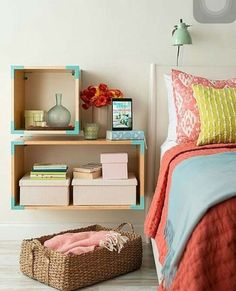 Creative and Chic DIY Nightstands | Nightstands, Walls and ...