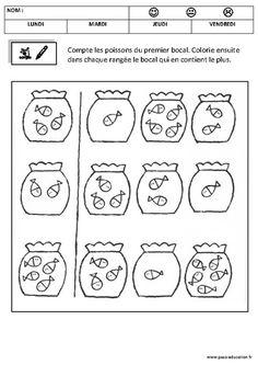 Comparer les nombres – Maternelle – Petite section – Moyenne section – Quantités et nombres – Cycle 1 - Pass Education