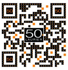 Check out this Super Cool Custom Branded QR Code for 50 Laurier by The http://www.RentSeeker.ca Team