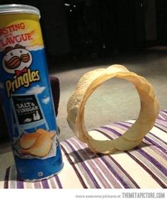 And now we're all going to try this the next time we have Pringles... whoa