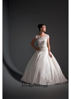 Beautiful Elegant Exquisite A-line Satin Wedding Dress In Great Handwork