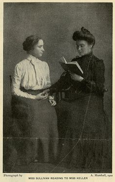Anne Sullivan Reading to Helen Keller | Flickr - Photo Sharing!