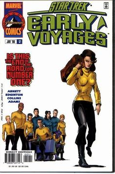 Star Trek: Early Voyages #12 - In this issue the crew mends the ship after the attack by the Chakuum.  Do to the Battles the Federation is short good officers and Number One is offered the command of the U.S.S. Nelson.  Meanwhile Captain Pike is sent on a secret mission and none other than Admiral Robert April arrives on the ship as an adviser to Number One.
