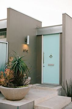 Mid century modern house entryway