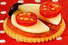 Ritz Cheesy Ladybug Cracker (could use Port Wine cheese- like Kaukauna-  to make ladybug pink!)