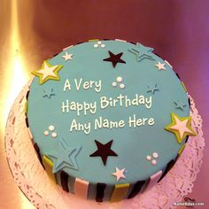 Amazing Birthday Cake For Boys With Name And Photo