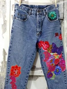 Hippie Patched Upcycled Jeans