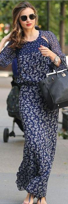 Miranda Kerr:  Sunglasses – Prada  Purse – Hermes  Dress – Isabel Marant  Shoes – Chanel