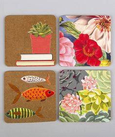 Coasters | Don't throw away last year's calendar just yet. Give it new life by recycling those pretty designs and photos with one of these crafts.