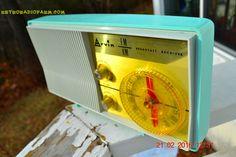 BLUETOOTH MP3 Ready - AM FM TURQUOISE Retro Mid Century Jetsons Vintage 1962 Arvin Model 2585 Tube Radio Amazing!