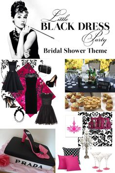 Bridal Shower Theme - Little Black Dress Party - Party Inspiration