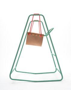 Rocking Swing by Clara Rivière & Tobias Nickerl - Design Milk Kids Furniture, Furniture Decor, Furniture Design, Swinging Chair, Rocking Chair, Hammock Swing, Toy Craft, Hanging Shelves, Leather Furniture