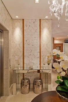 Salas com halls de entrada integrados – saiba como criar um cantinho para receber na sua casa/apartamento! - Decor Salteado - Blog de Decoração e Arquitetura