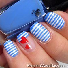 #Sailor inspired #summer #manicure