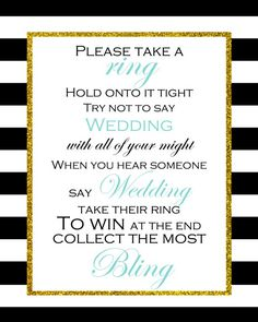 FREE PRINTABLE DON'T SAY WEDDING GAME