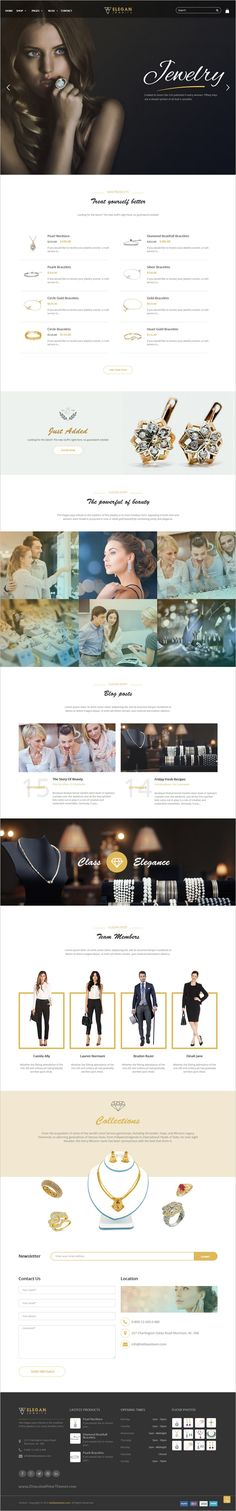 Here's a great example of a luxury jewelry website design. Discover more website design examples at www.dotcomglobalmedia.com