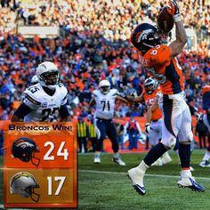 SnapWidget | The #Broncos have advanced to the AFC Championship game! #UnitedInOrange
