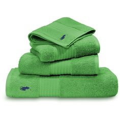 Ralph Lauren Home Player Towel - Medium Green - Hand Towel (165 HRK) ❤ liked on Polyvore featuring home, bed & bath, bath, bath towels, green, embroidered bath towels, egyptian cotton bath towels, stripe bath towels, striped bath towels and green hand towels