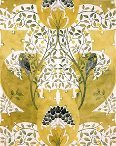 Wallpaper design by C F A Voysey, produced by Sanderson & Sons in 1907