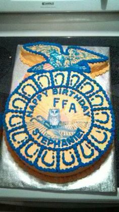FFA birthday cake - buttercream frosting - AWESOME IT EVEN HAS MY NAME ON IT!!!