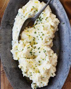 Herbed mashed cauliflower