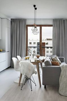 Luxury Scandinavian Interior Design Ideas For Small Apartment - Page 3 of 41 Small Living Rooms, Living Room Designs, Living Room Decor, Small Dining, Dining Room, Dinning Table, Small Apartment Interior, Apartment Ideas, Scandinavian Interior Design