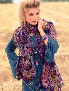 Вязание шали и платков крючком - подборки, модели, фото – Страница 2 из 5 : Kruchcom.ru Crochet Scarves, Crochet Clothes, Crochet Scarf Diagram, Hippie Gypsy, Knitting Stitches, Clothing Patterns, Short Skirts, Free Crochet, Crochet Ideas