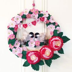 Chickadee And Blossom Wreath -- What a lovely 3D machine embroidery design