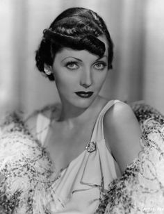 Adrienne Ames 30s evening gown & feather boa