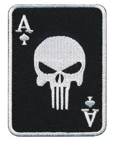 Patch Squad Men's Ace of Spade Death Dead Mans Hand Punisher Morale Patch Army Patches, Tactical Patches, Cool Patches, Pin And Patches, Tactical Wear, Punk Patches, Velcro Patches, Biker Patches, Punisher Skull