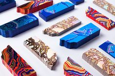 FIAC block foiled bookmark design by The Bakery featuring Arjowiggins Curious Matter papers and boards